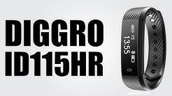 Diggro ID115HR Smartband - Bluetooth 4.0 / Pedometer / Sleep Monitor / Call / SMS / Heart Rate