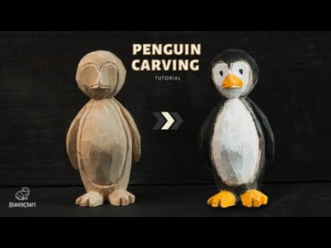 Carving a Penguin - Wood Carving Tutorial