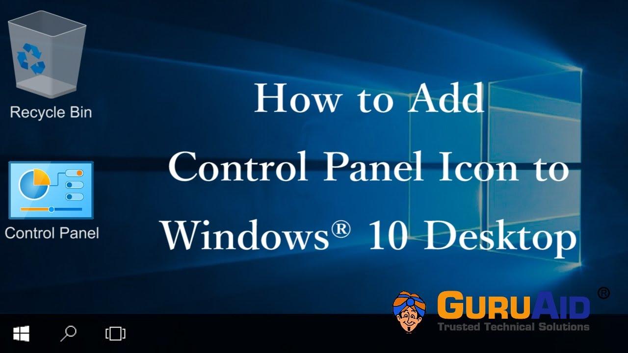 control panel shortcut missing from start menu windows 10