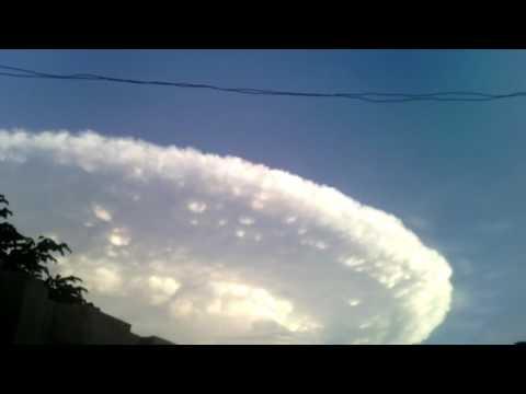 Gran nube en cartagena colombia