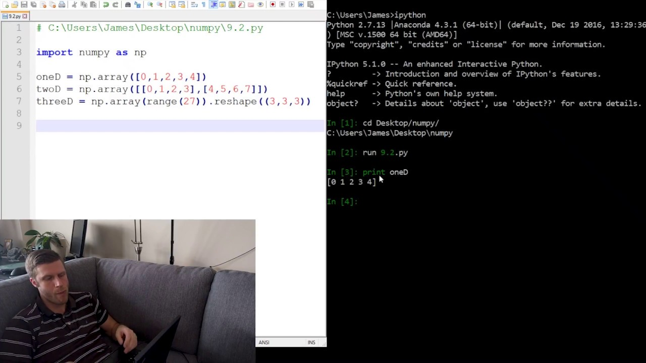 Class #9 – More lists and Numpy Arrays — CSCI 161 1 0 documentation
