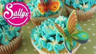 Zitronen-Cupcakes / Hyazinthen Dekoration / Blumen Cupcakes / Flower Cupcakes / Sallys Welt