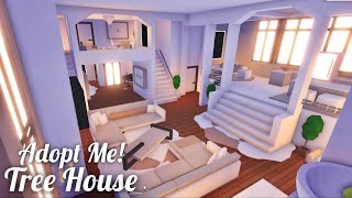 Adopt Me!  Modern Minimalist Tree House with Gorgeous Backyard  Speed Build / Tour