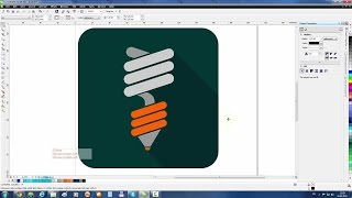 CorelDraw Tutorial: Draw the Energy Saving Lamp Icon