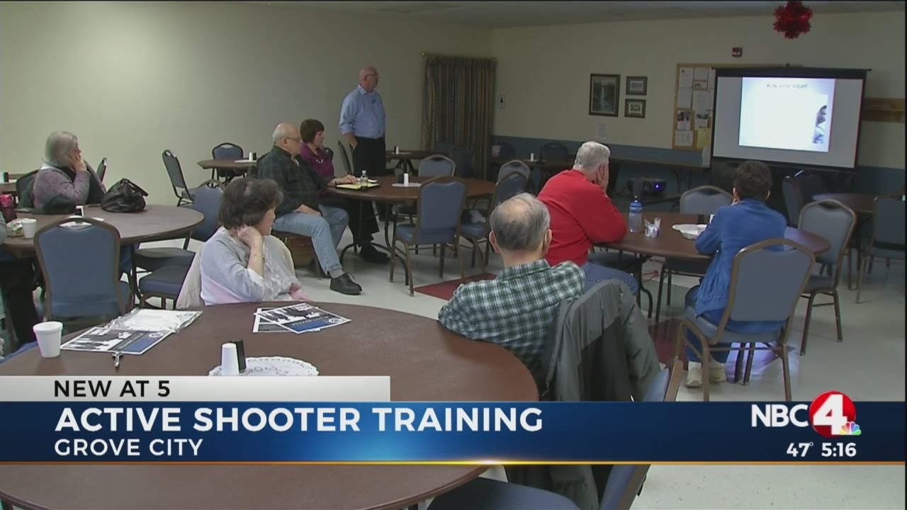 Grove City Active Shooter Training - YouTube