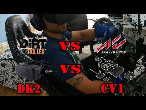 Oculus Rift Cv1 vs Dk2 / Dirt Rally y Assetto Corsa