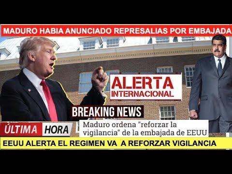 Maduro amenaza por invasion a embajada de Venezuela en EEUU