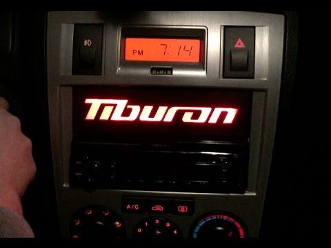 Custom Hyundai Tiburon LED Dash Trim