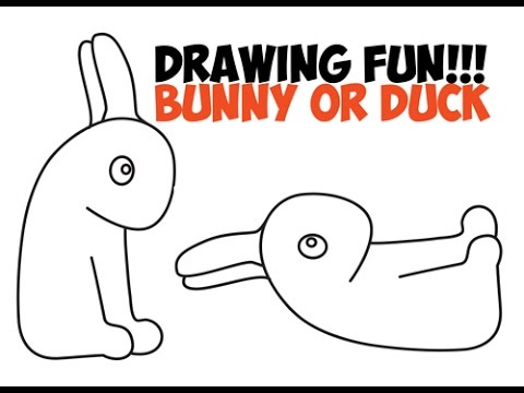 How To Draw Duck Or Bunny Rabbit Optical Illusion Drawing Trick Easy