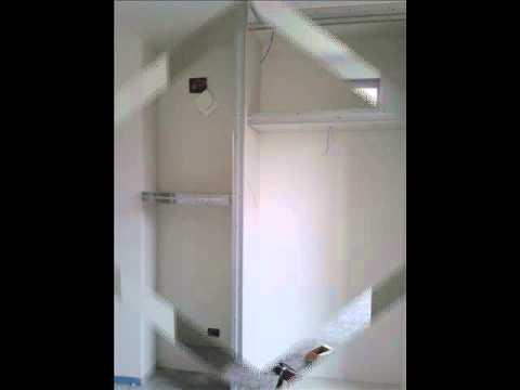 Armadio a muro in cartongesso di junaro youtube for Ante per armadio in cartongesso