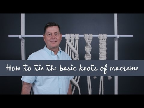 How to tie the basic knots of Macramé thumbnail