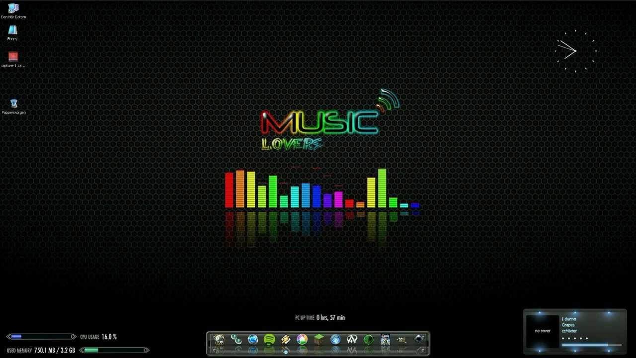 Animated Desktop Wallpaper Windows 7 Cool Equalizer Animated Multi Color 4 Version Youtube