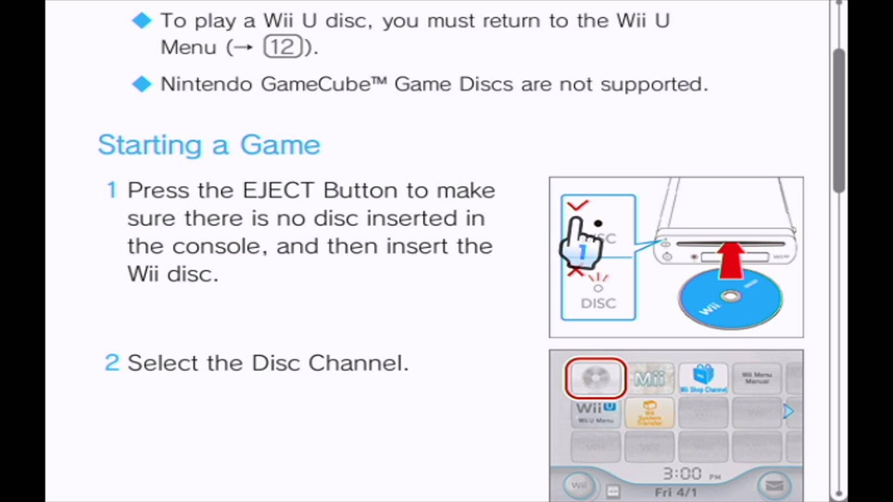 wii menu manual youtube rh youtube com wii troubleshooting guide unable to read disc Wii Error Has Occurred