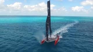 DNA Performance Sailing G4 catamaran foiling test by Don Montague Kai Concepts composite carbon boat