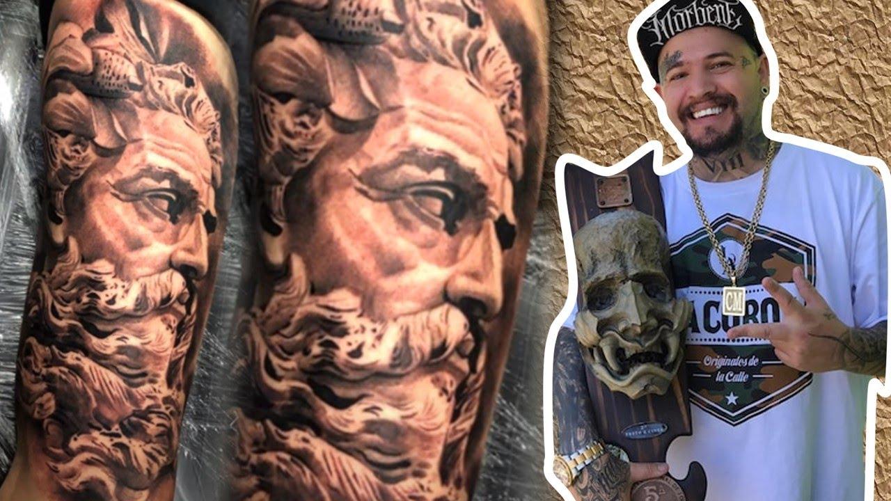 tattoo chico posseidon timelapse