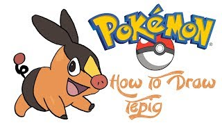 How To Draw Tepig (POKEMON)