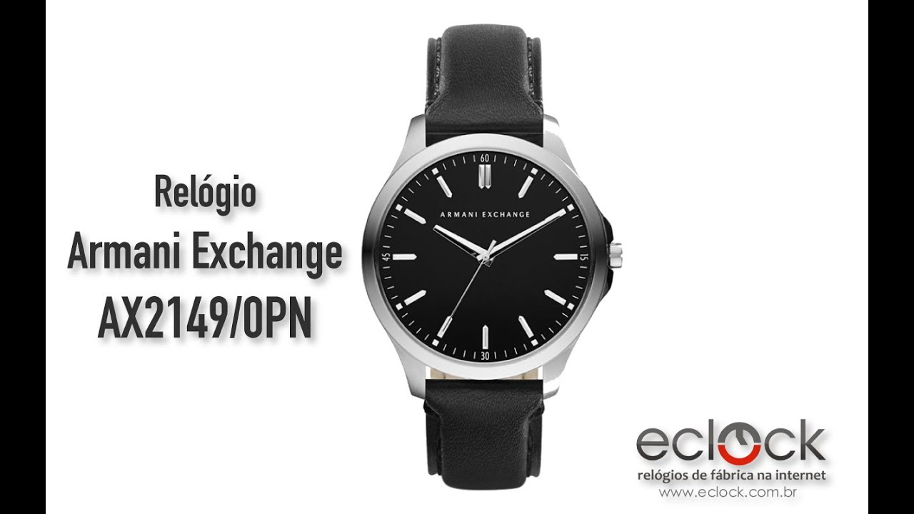 e62873a24e4 Relógio Armani Exchange Masculino AX2149 0PN - Eclock - YouTube