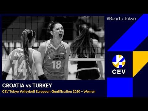 Croatia vs Turkey FULL MATCH - CEV Tokyo Volleyball European Qualification 2020 Women
