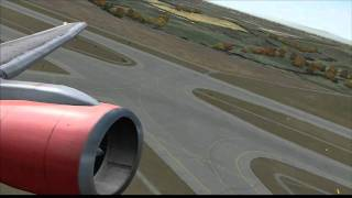 [HD] Air Berlin 757-200 takeoff from Vienna (FS2004)
