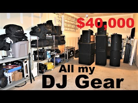 FULL DJ Garage TOUR | All My Equipment | Speakers Lights Stage Truss Cables Stands