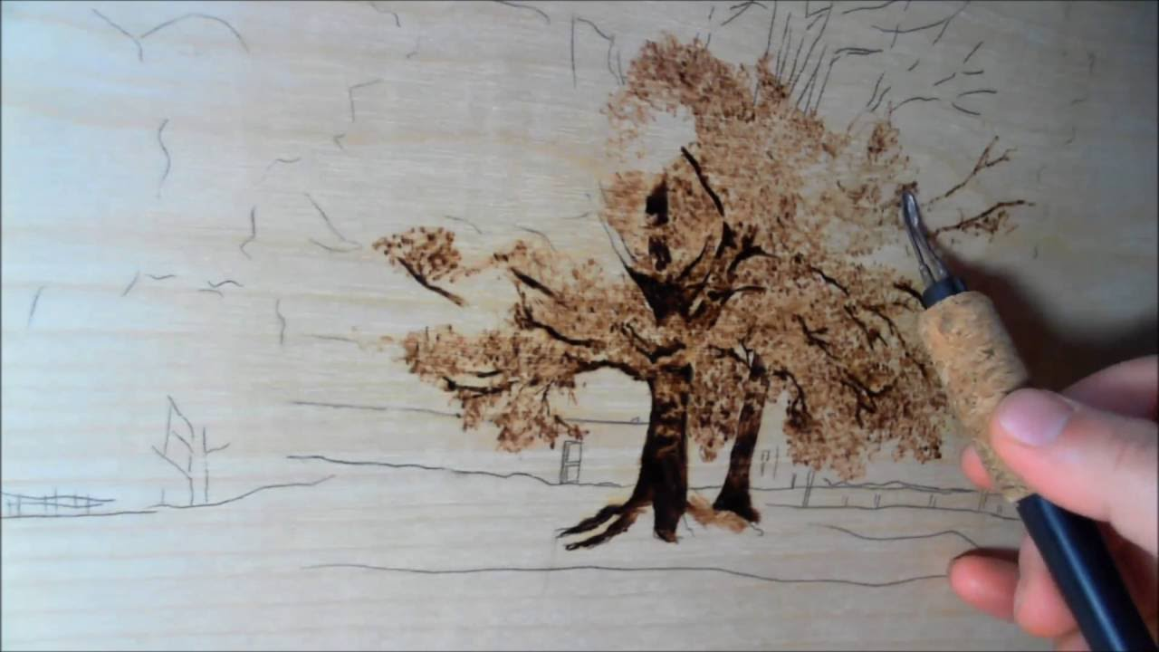 Jeans Pyrography Art How To Draw A Tree