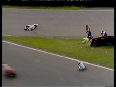 Brian Morrison and James Whitam crash at Mallory Park