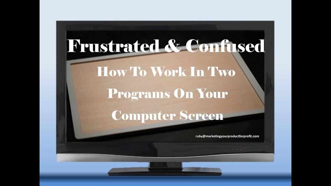 Tips for Managing Multiple Program Windows