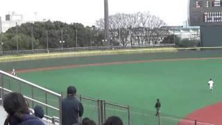 鷺宮製作所・中山俊が レフト線へ2塁打を放つ 【ドラフト候補2016】