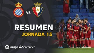 Resumen de RCD Espanyol vs CA Osasuna (2-4)