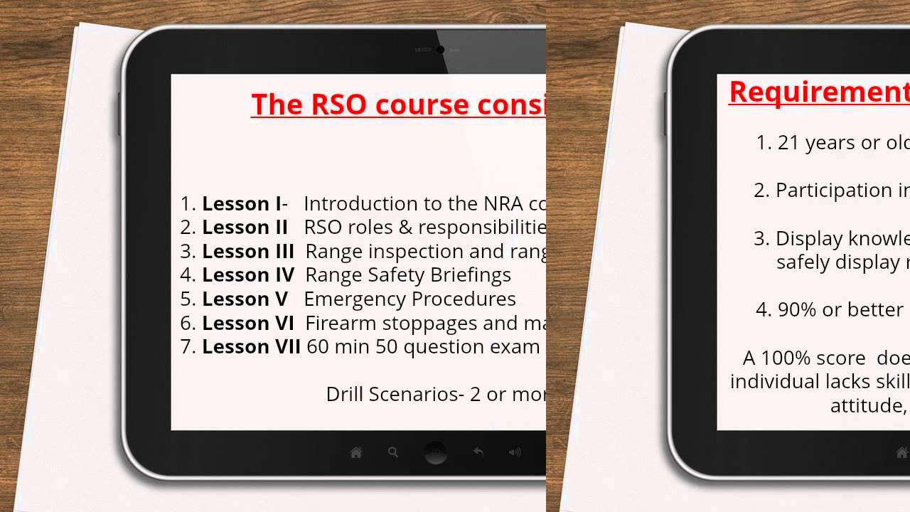Rso Class Overview Youtube