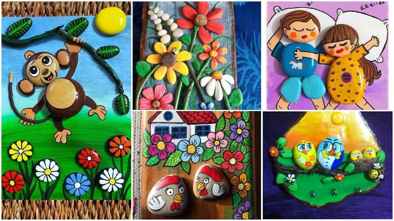 Pebble Art Awesome Painted Ideas Best Easy Cute Stone Designs Painting Stones Youtube