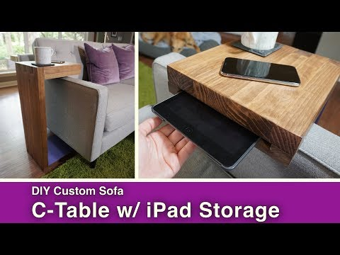 DIY Sofa C-Table w/ iPad Storage