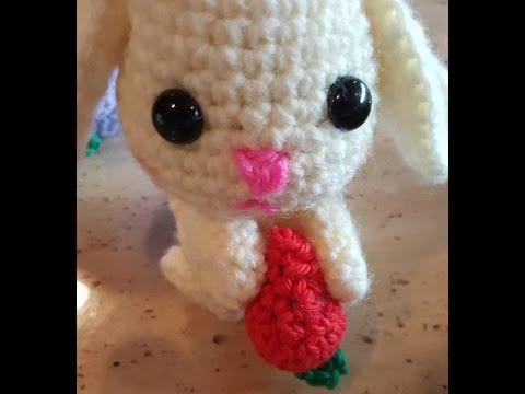 Amigurumi Rabbit Tutorial : Crochet quick easy beginner cute little bunny rabbit diy tutorial