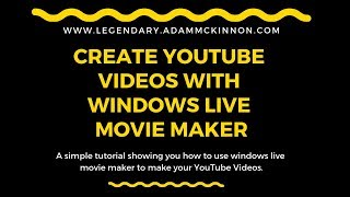 Using Windows Live Movie Maker. Use Free Software To Create YouTube Videos!