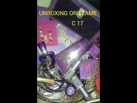 Unboxing Oriflame c17 2014