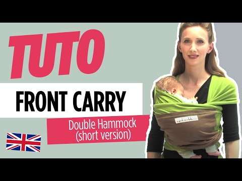 Baby Wearing - Front Carry Double Hammock style (from PWCC) short version - JPMBB