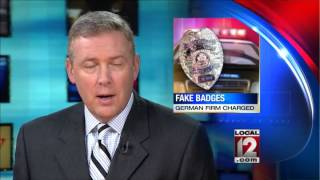 Company accused of smuggling realistic police badges into US