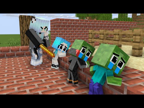 Monster School: Good Baby Zombie Vampire and Bad Mother Wolf Girl - Sad Story - Minecraft Animation