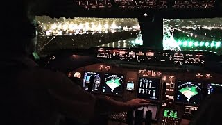 Boeing 747-400 Miami Take-off in Heavy Rain - Cockpit View thumbnail