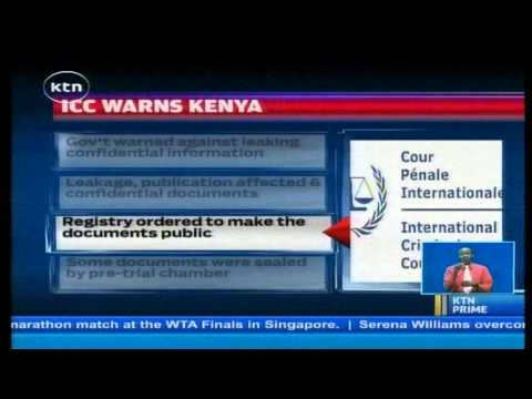 Stop leaking confidential documents, ICC tough warning for Kenya