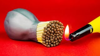 What Is Done With a Match 💣 Life Hacks & Interesting Experiments
