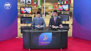 Hosts go through daily program at Jalsa USA 2017