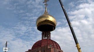Установка центрального купола на Никольский собор