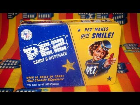 Pez Candy Tin And Regular Dispenser