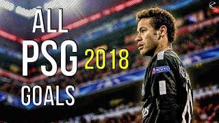 Neymar Jr ● All 17 Goals in PSG 2017/18 | HD