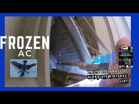 Frozen Air Conditioner How To Unfreeze Defrost Fix Up Ice Froze AC Repair Maintenance Video