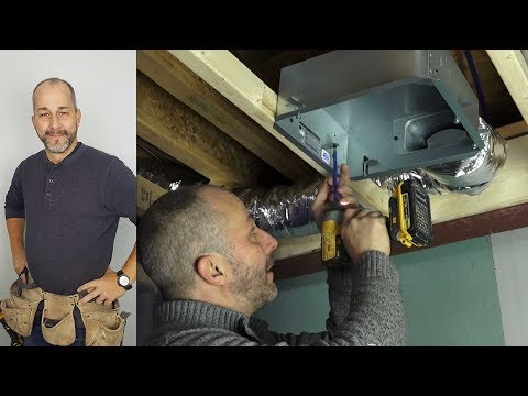 How To Install A Bathroom Fan And Exhaust