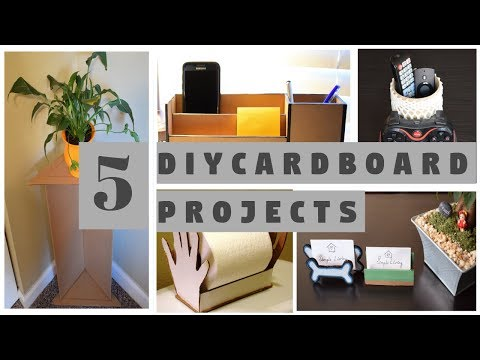 DIY: 5 best ways to reuse/recycle cardboard for home decor