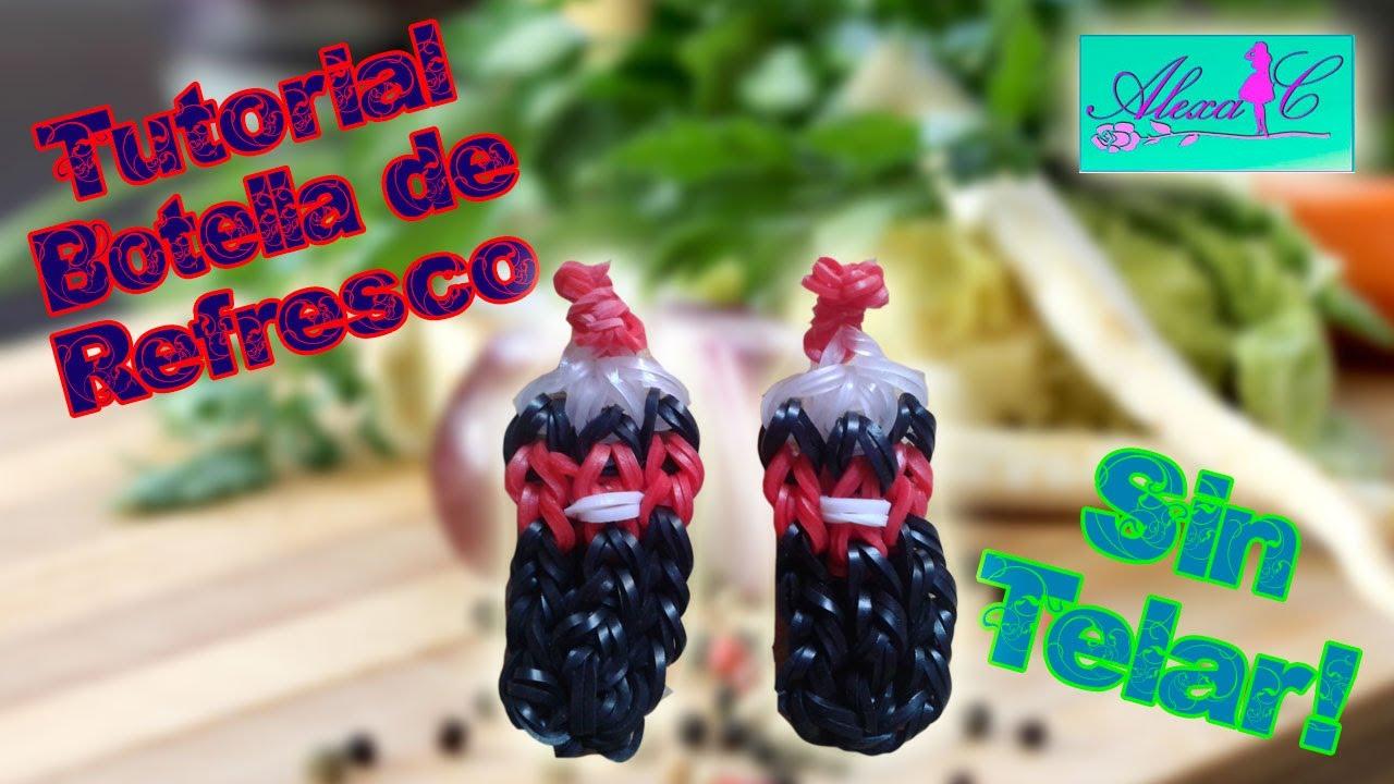 ♥ Tutorial: Botella de refresco de gomitas (sin telar) ♥
