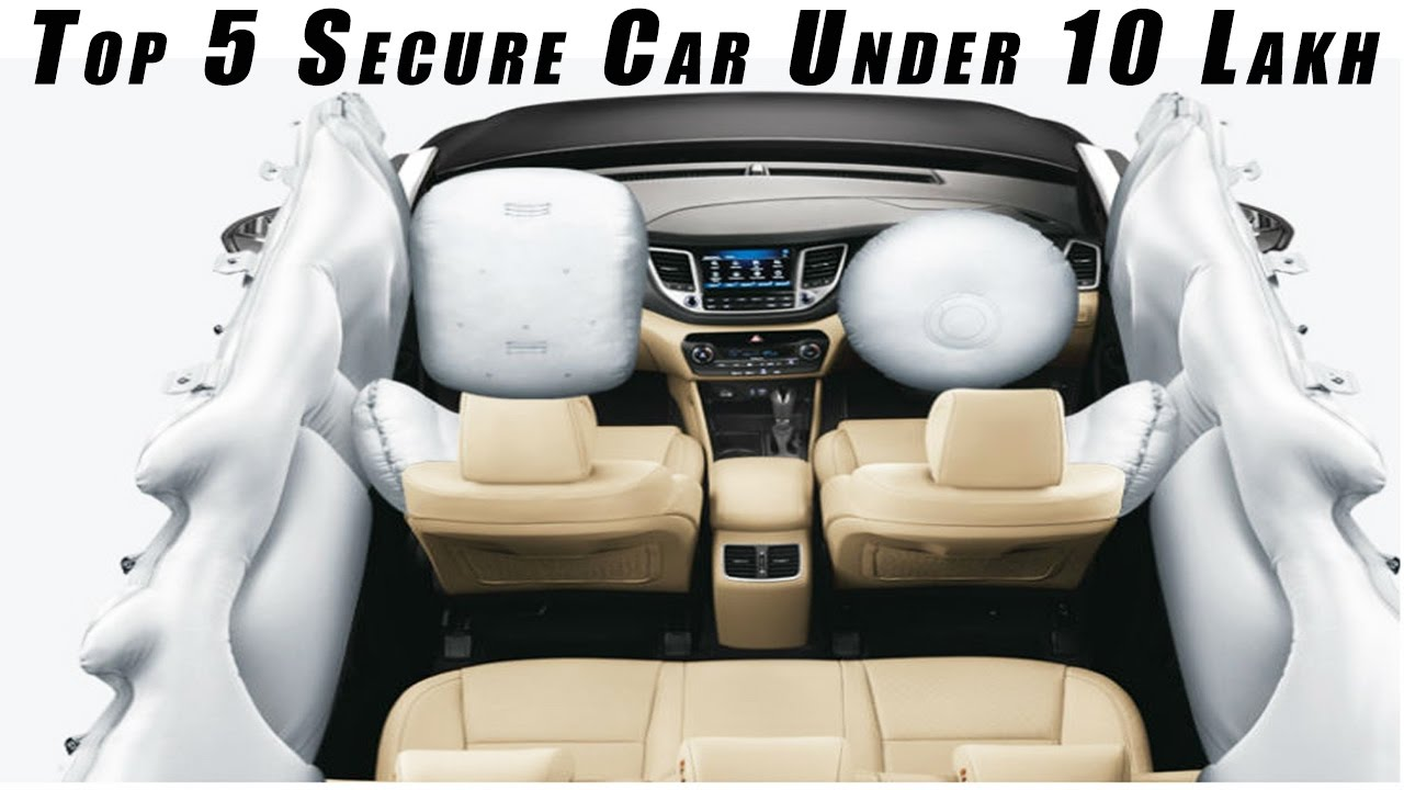 Top 5 SAFEST Cars Under Rs 10 Lakhs L 6 AirBags L Top